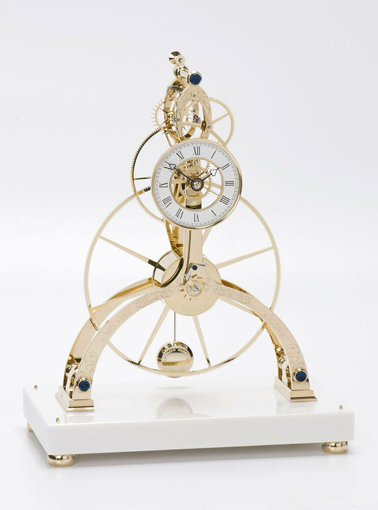 Sinclair harding great wheel skeleton clock original neu ebay