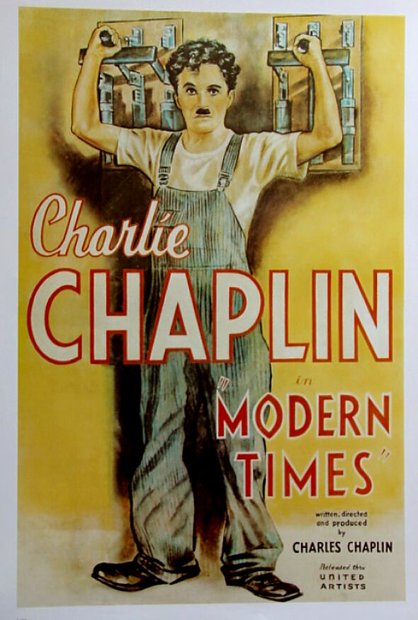 Modern Times (1936)•Charlie Chaplin•German Reprint Movie ...