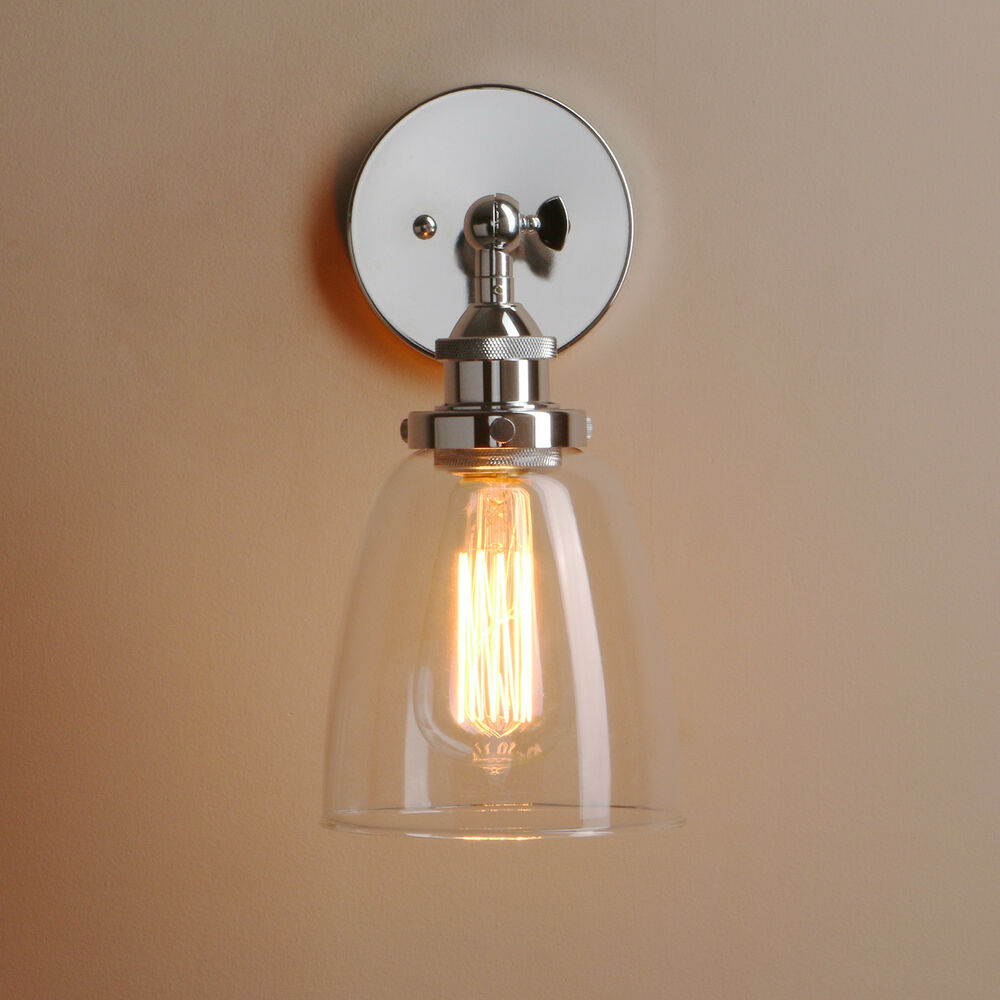 Adjustable Industrial Vintage Antique Brass Glass Retro Wall Light Wall Lamp eBay
