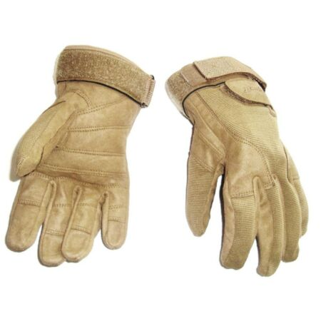 img-HEAVY DUTY SPECIAL OPS GLOVES military work Army ultra tough mens small sand