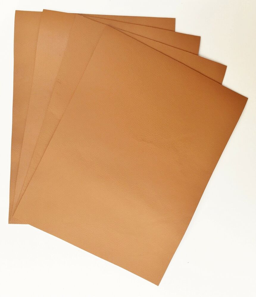 Veg tan leather pieces of sheepskin craft pack 4 20cm x for Leather sheets for crafting