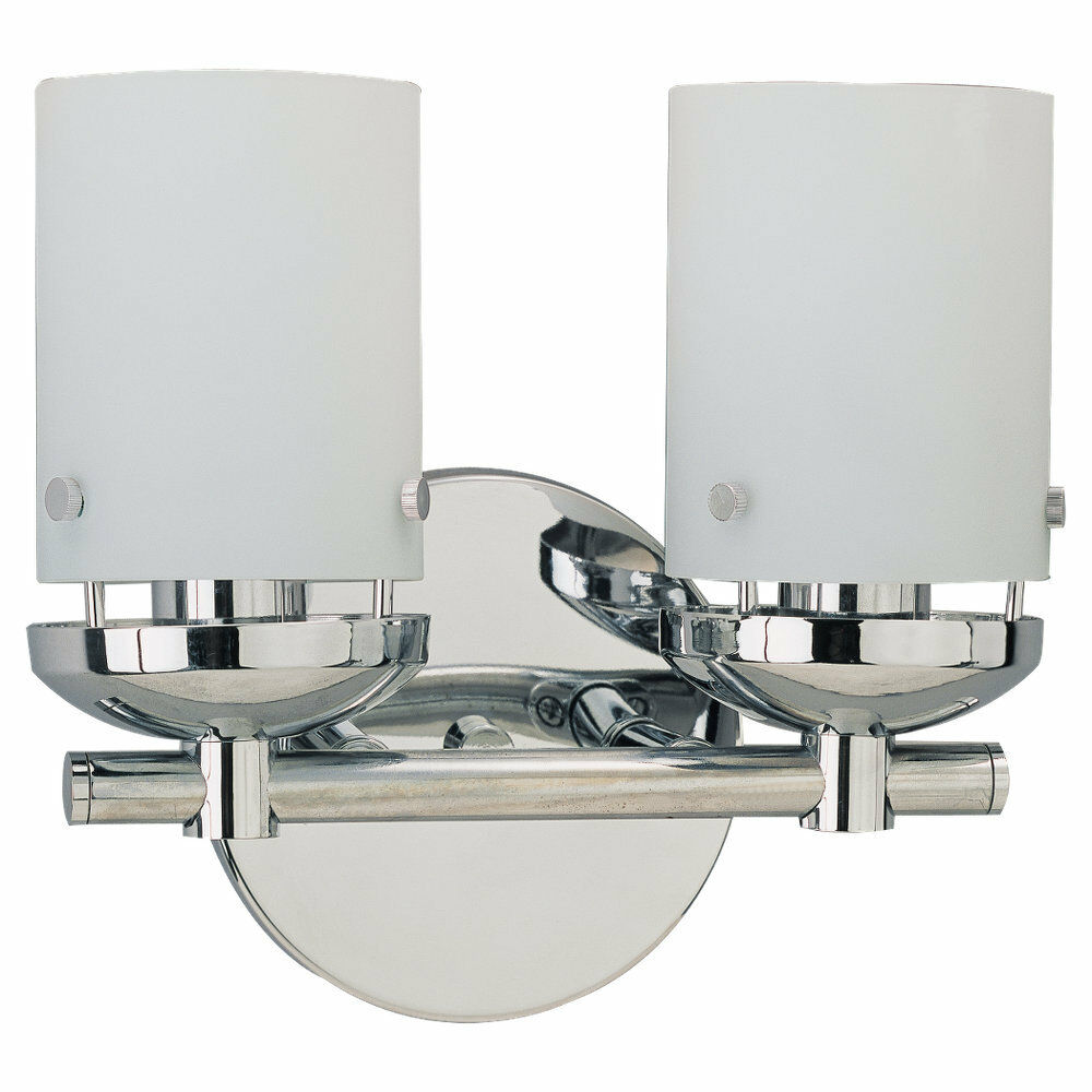Sea Gull Lighting 40044-05 Bliss Two-Light Vanity, Chrome Finish with Cased Opal eBay