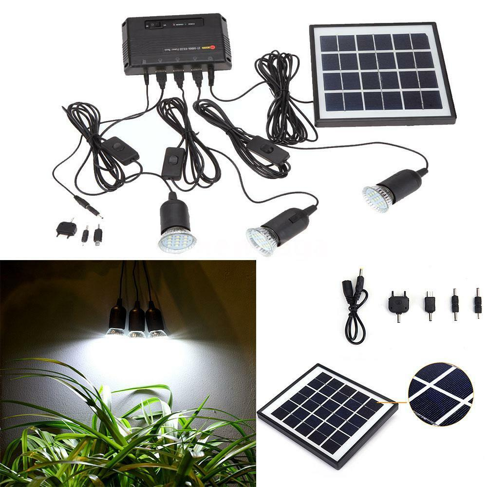 Outdoor Solar Lights Parts: Outdoor Solar Power Panel LED Light Lamp Charger Home