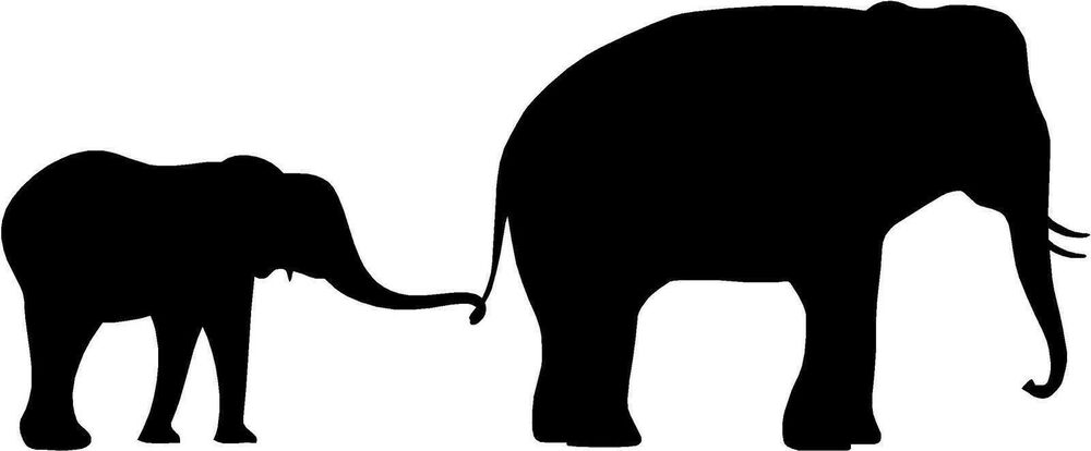 Pin by Terri Albrecht on Cards - Silhouettes   Elephant ...   Mom And Baby Elephant Outline