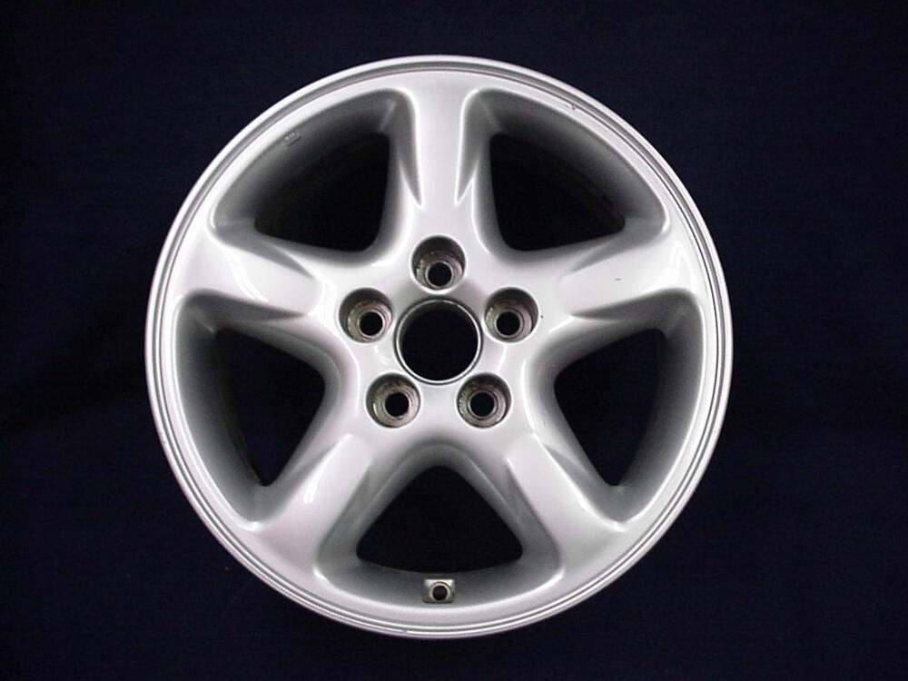 toyota rav4 01 03 16 5 spoke silver alloy aluminum wheel 1 oem ebay. Black Bedroom Furniture Sets. Home Design Ideas