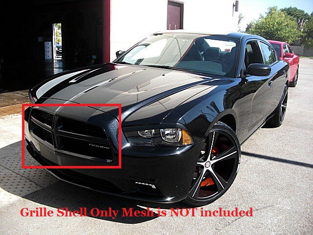 dodge charger gloss black grille fits 2011 2012 2013 2014. Black Bedroom Furniture Sets. Home Design Ideas