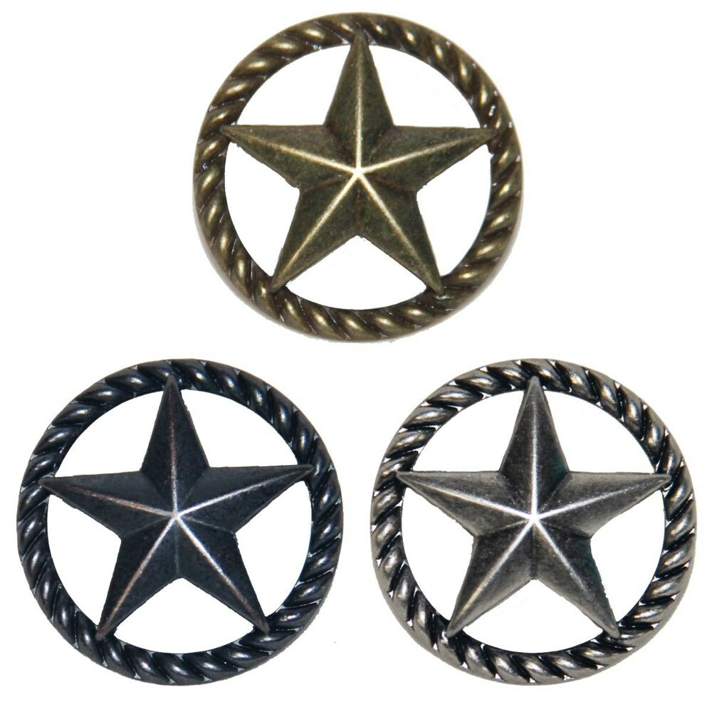 Thin ropestar drawer pull cabinet knob western southwest for Star cabinet pulls