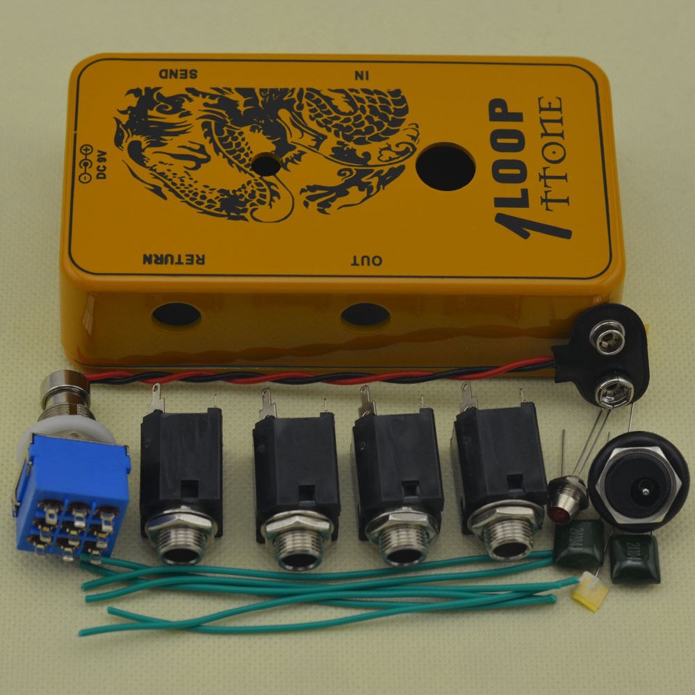 ttone diy true bypass looper pedals aluminum pedal box guitar effect pedal or 691991202803 ebay. Black Bedroom Furniture Sets. Home Design Ideas