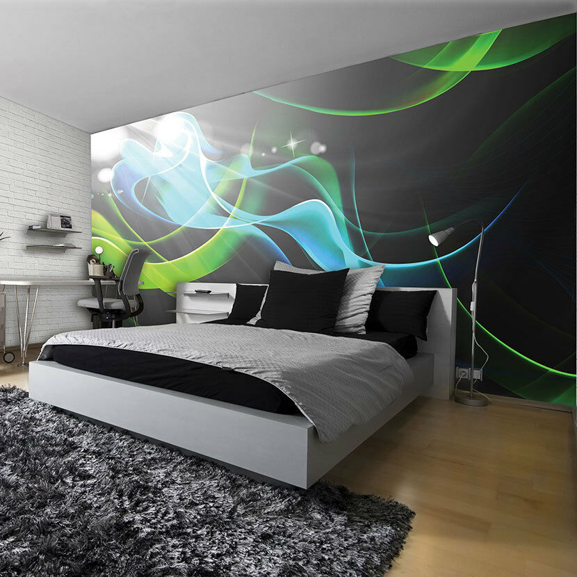 poster wandbild tapeten fototapete kunst gr n muster abstraktion 3d 3fx2588p8 ebay. Black Bedroom Furniture Sets. Home Design Ideas