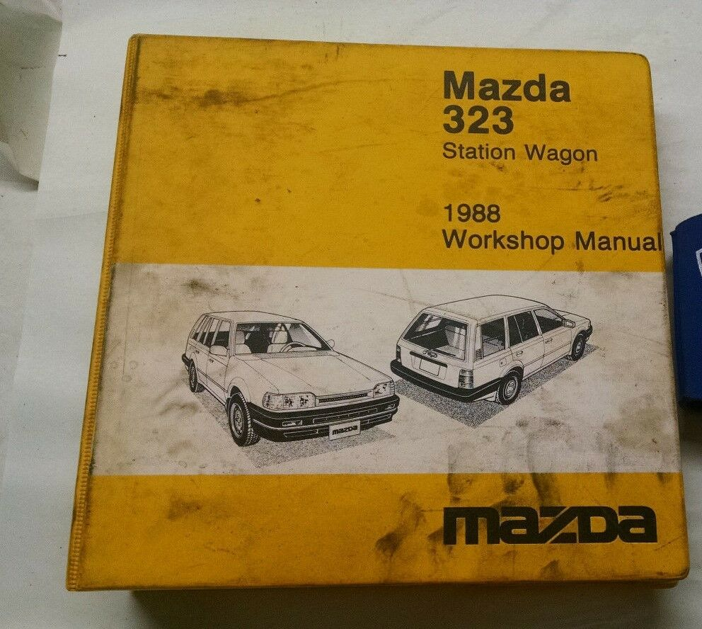 details about 1988 mazda 323 station wagon service shop repair manual & wiring  diagrams