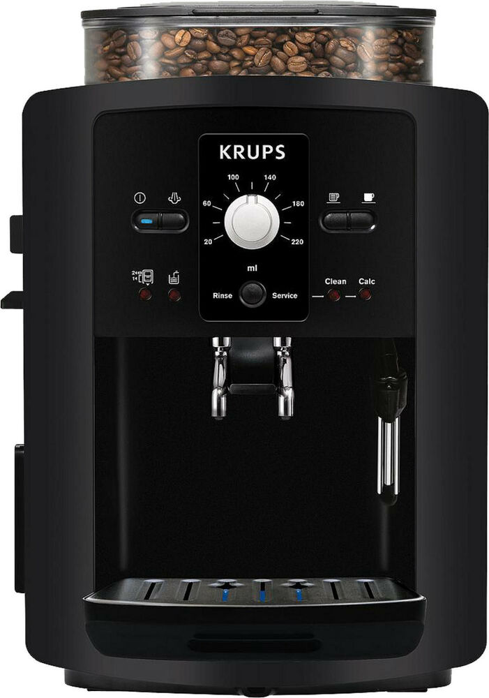 krups ea8000 coffee espresso cappuccino coffee machine fully automatic black ebay. Black Bedroom Furniture Sets. Home Design Ideas