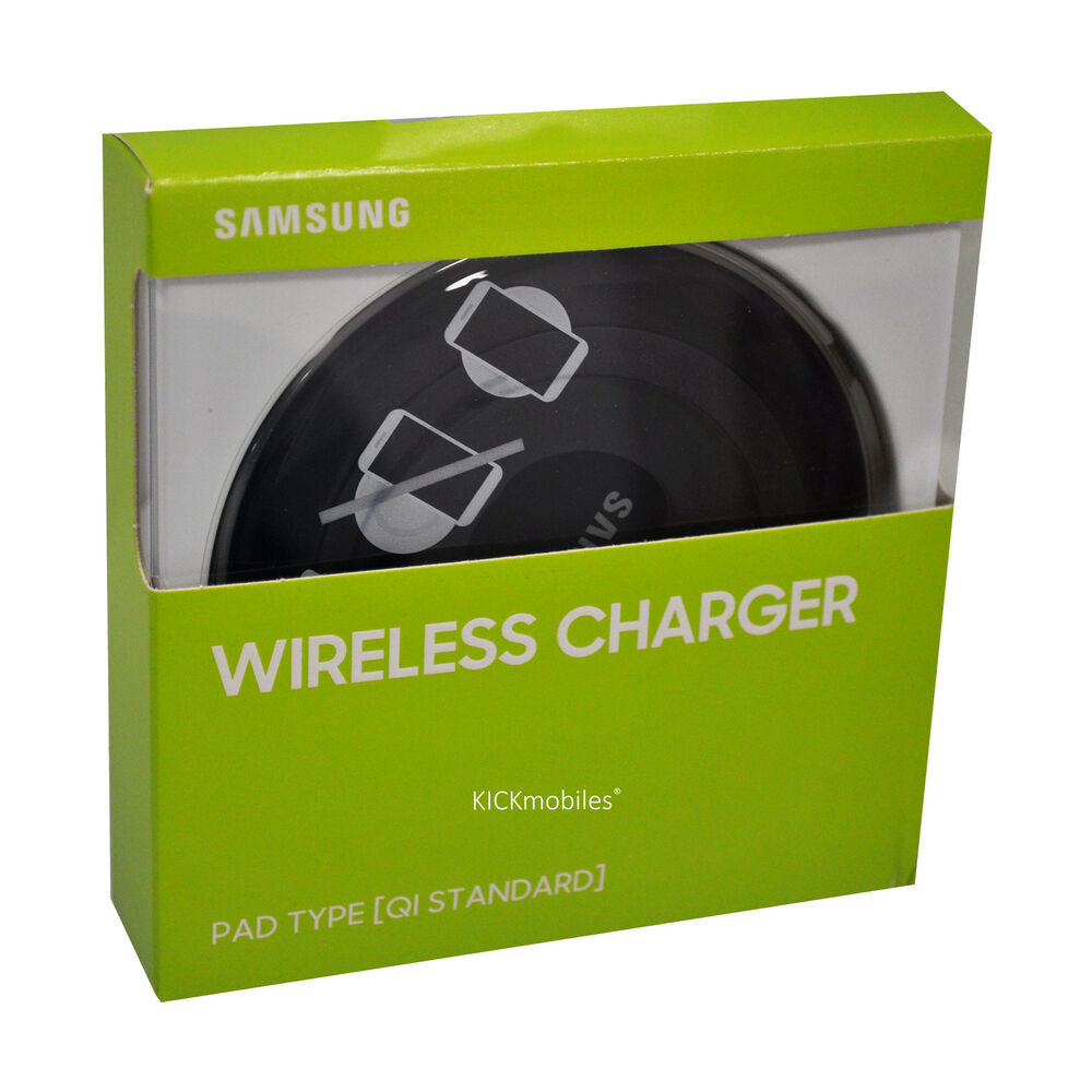 new samsung wireless charger pad type black ep pg920ibegww original ebay. Black Bedroom Furniture Sets. Home Design Ideas