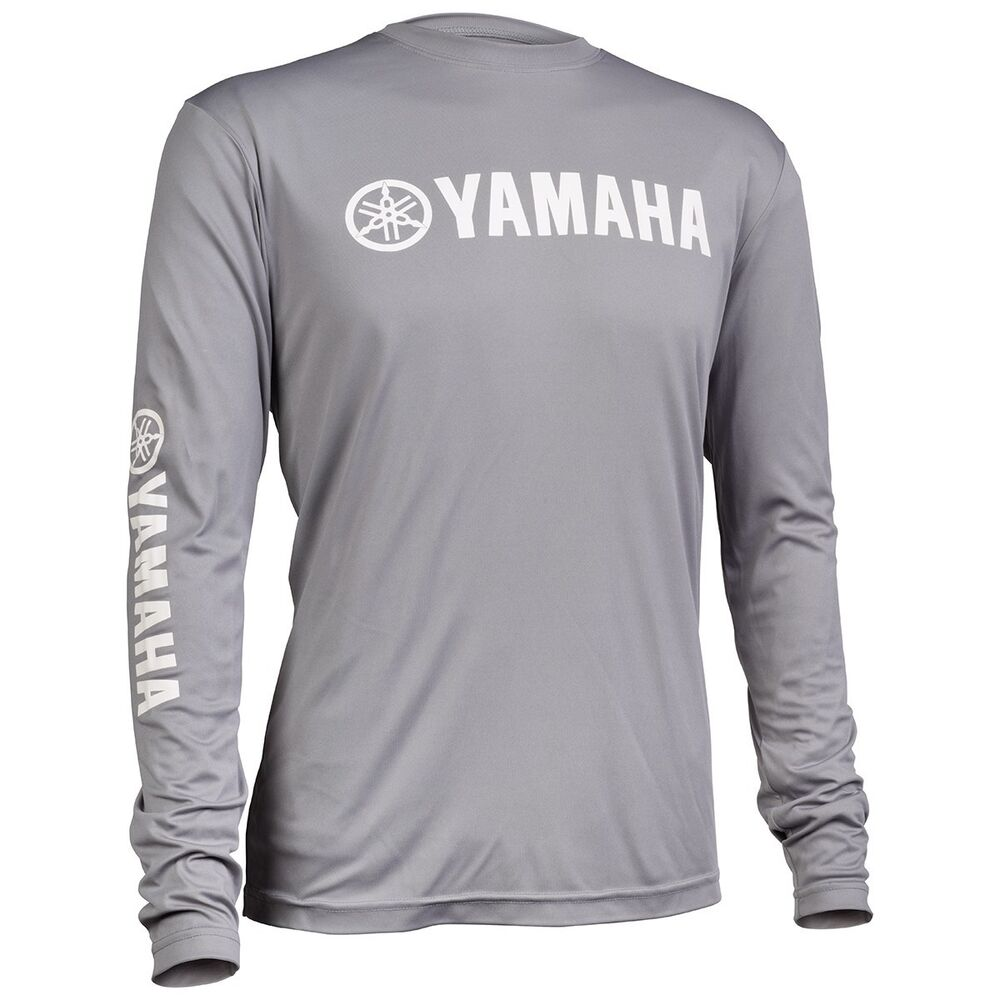 new men 39 s yamaha long sleeve moisture wicking tee t shirt. Black Bedroom Furniture Sets. Home Design Ideas