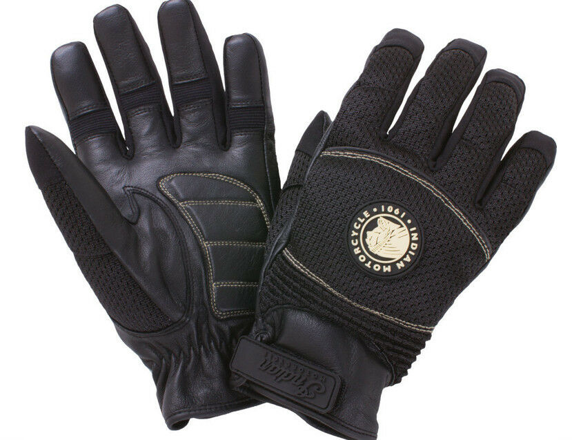 Ebay Motors Motorcycles >> INDIAN MOTORCYCLES MESH BLACK LEATHER POLYESTER GLOVES ...