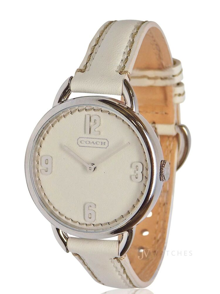brand new womens coach 14501806 oversized white leather