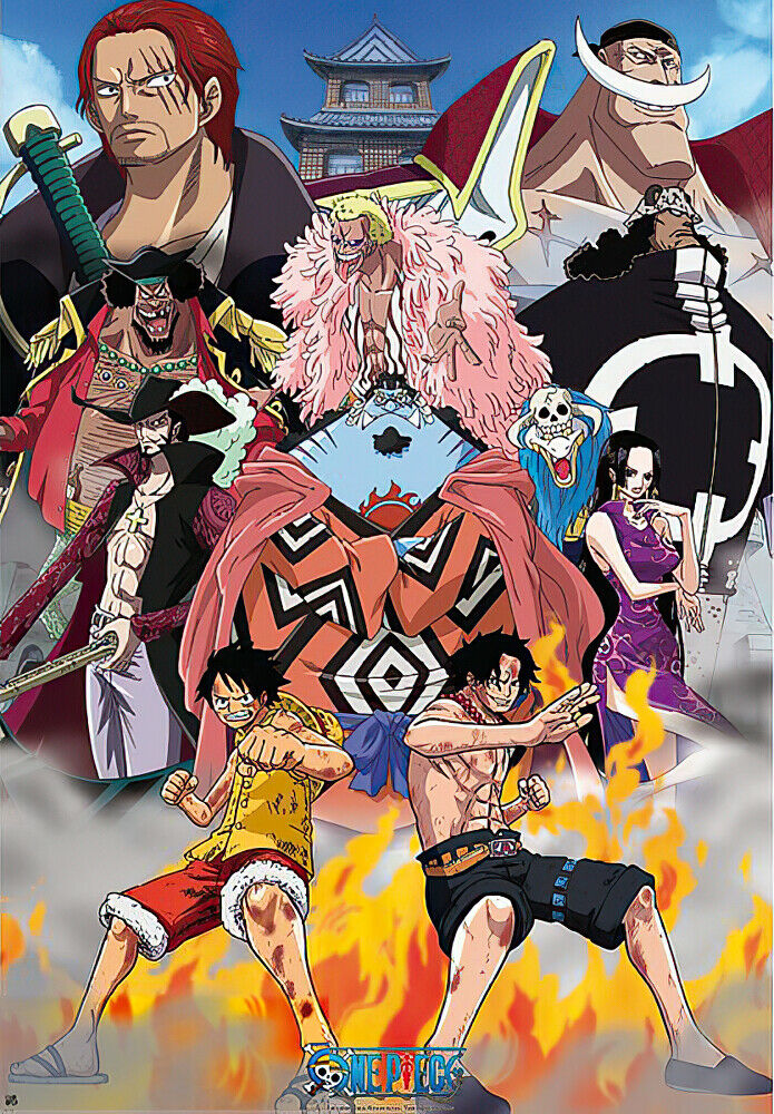 one piece anime manga poster print marine ford whitebeard pirates 636276506191 ebay. Black Bedroom Furniture Sets. Home Design Ideas