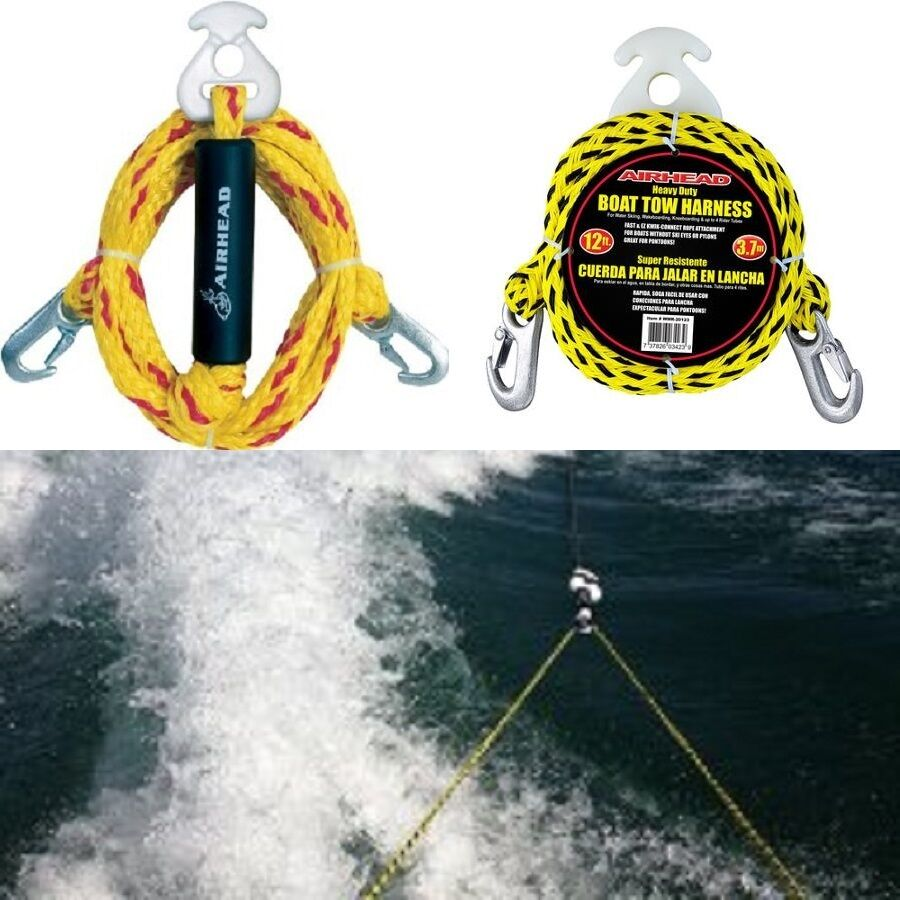 multi purpose tow rope heavy duty y harnes tube towable ... boat tow harness