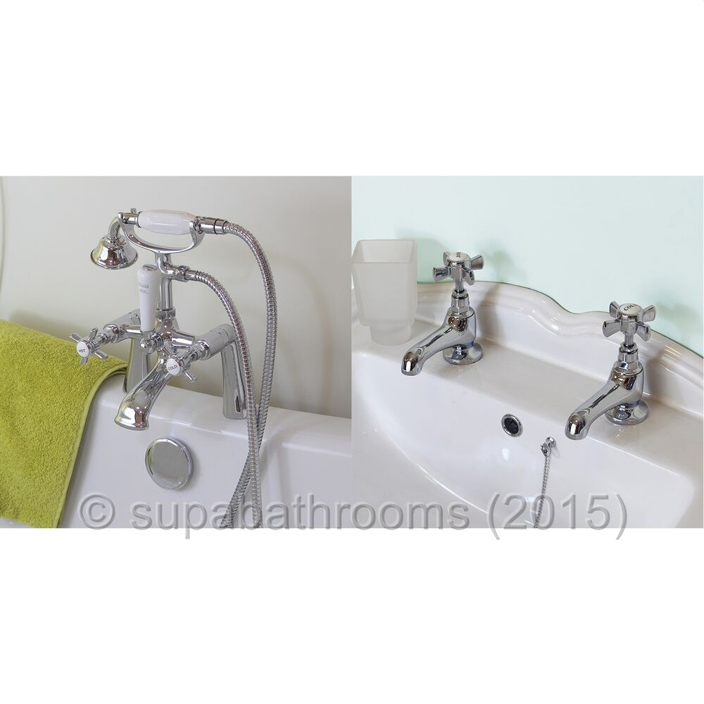 Juno Basin Taps Bath Shower Mixer Combo Ebay