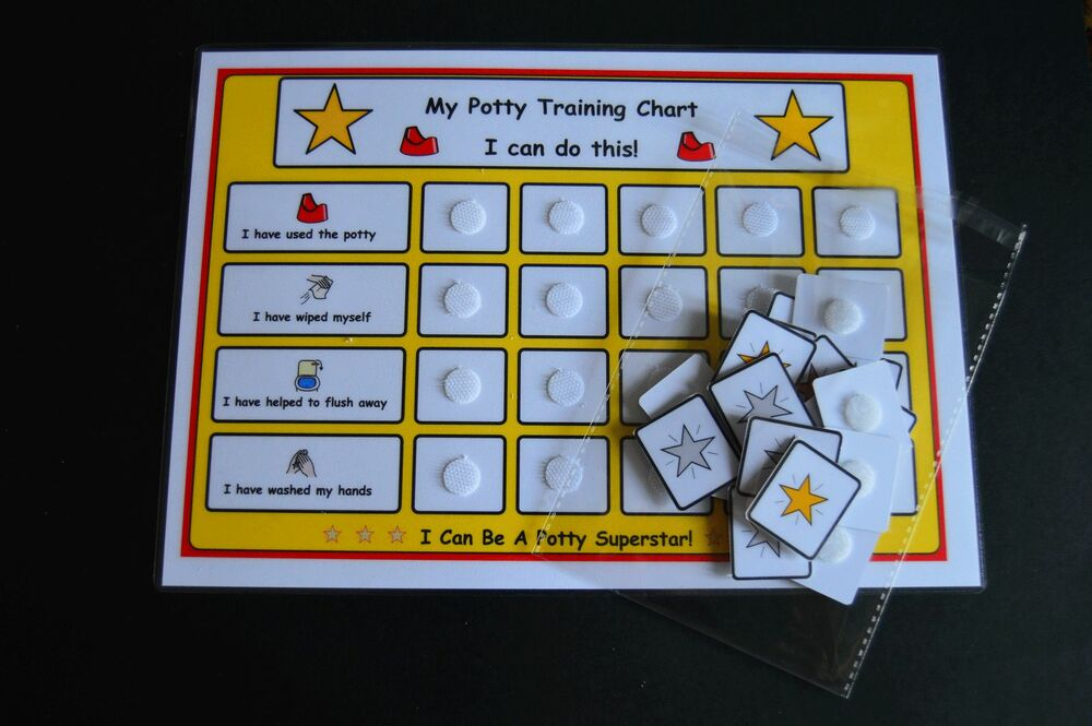 stars potty training reward chart ideal for pre