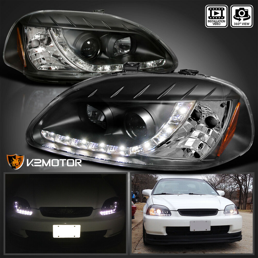 for 1996 1998 honda civic r8 led daytime running lamp. Black Bedroom Furniture Sets. Home Design Ideas