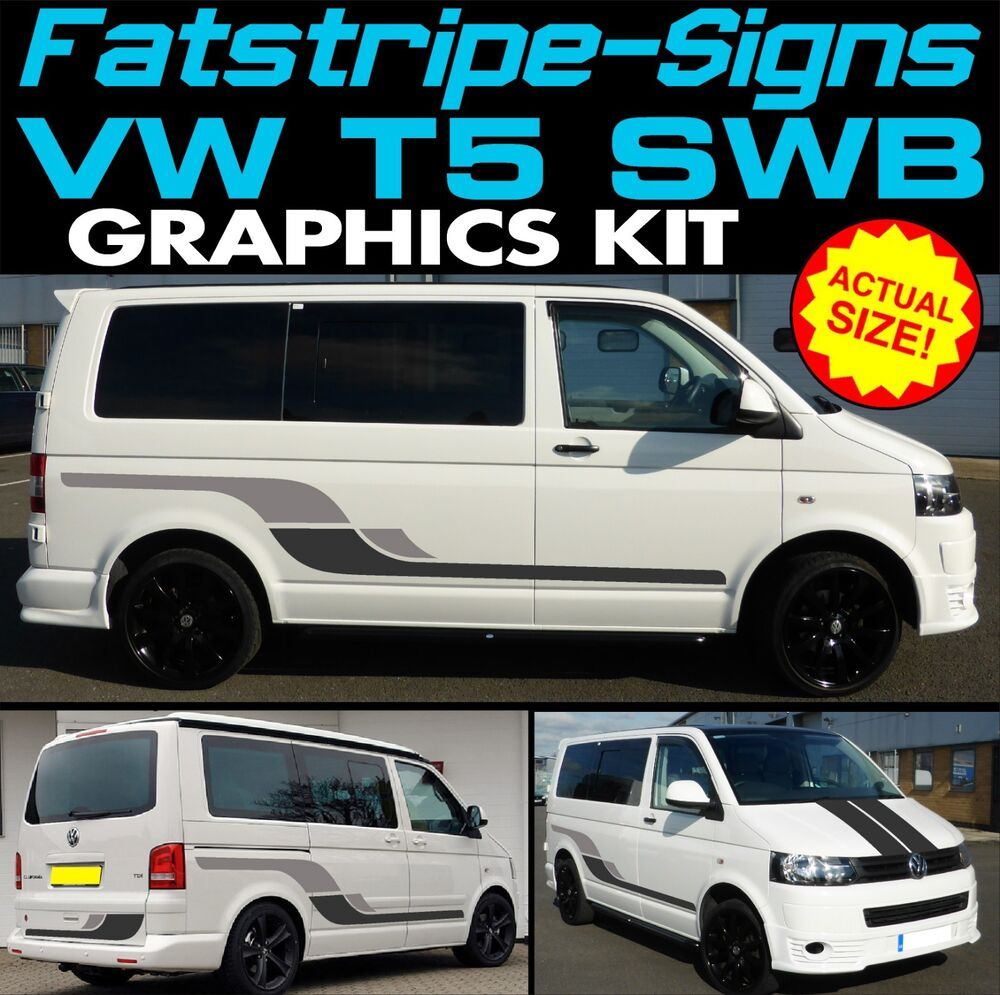 Vw transporter swb motorhome vinyl graphics stickers for Decals for rv mural