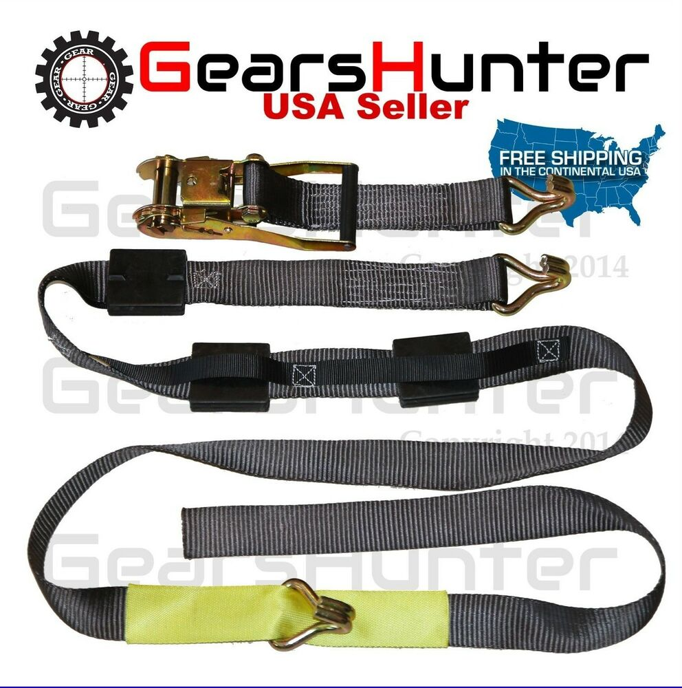 Vehicle Tow Straps : Set of wheel tow dolly strap car tie down ratchet
