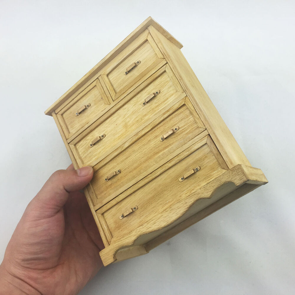 Wooden chest of drawers the wardrobe locker scene for Scale model furniture