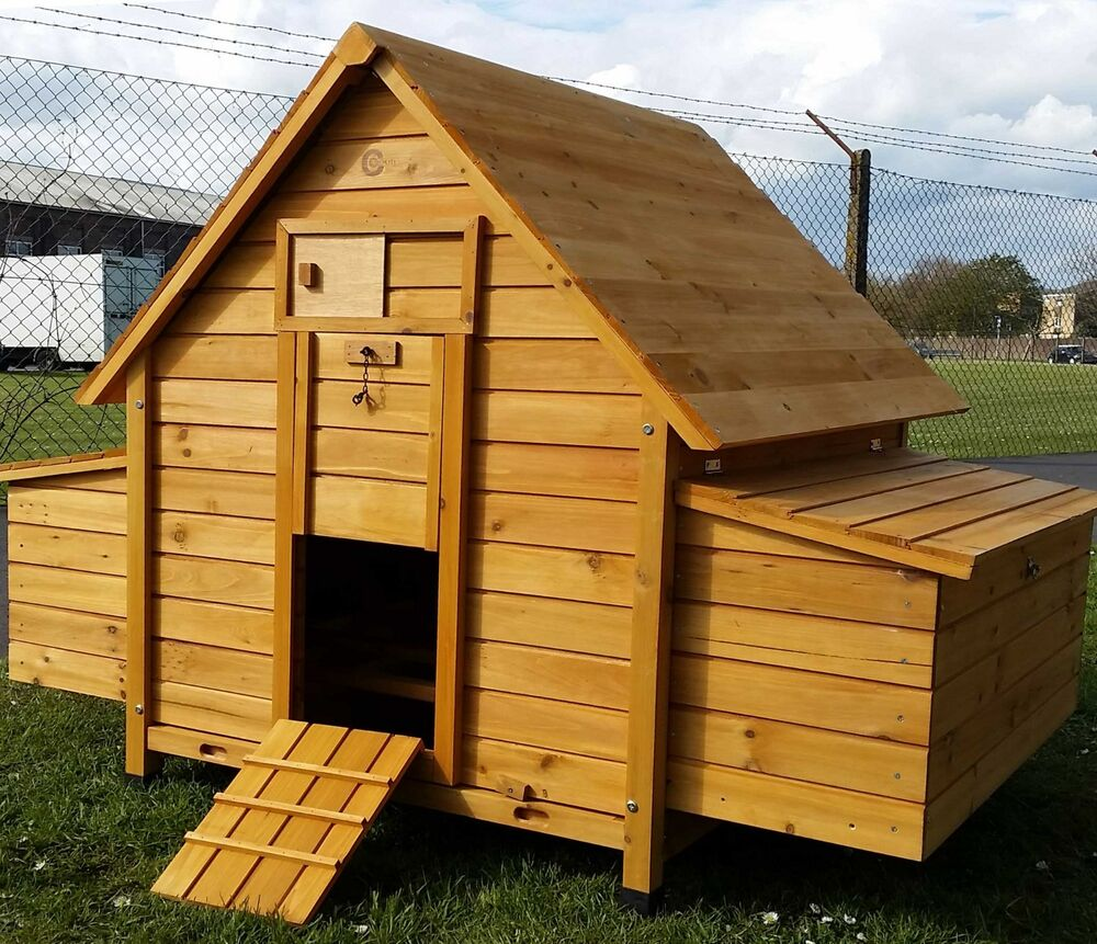 LARGE CHICKEN COOP RUN HEN HOUSE POULTRY ARK HOME NEST BOX