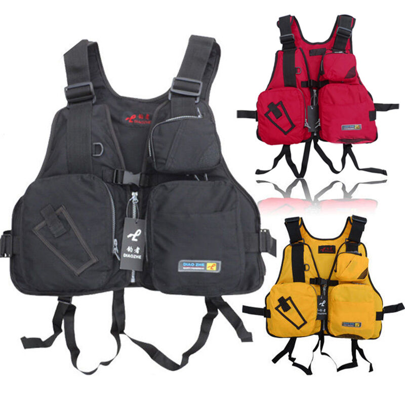 Adult adjustable buoyancy aid sailing kayak canoeing for Kayak fishing vest