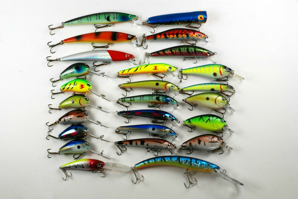 25 fishing lures crankbait tackle plug wobblers baits ebay for Ebay fishing lures