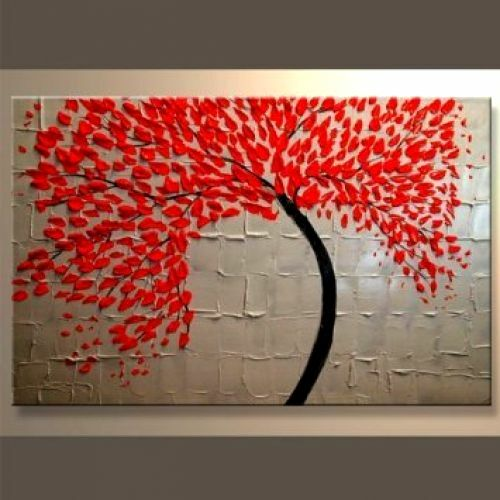 Wall Art Canvas Ready To Hang : Modern canvas wall art abstract oil painting framed big