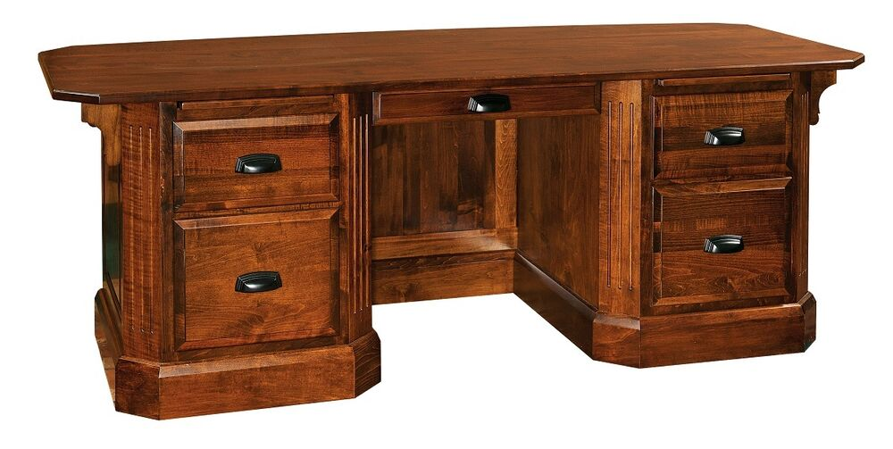 Traditional Executive Computer Desk Office Furniture Solid Wood | eBay