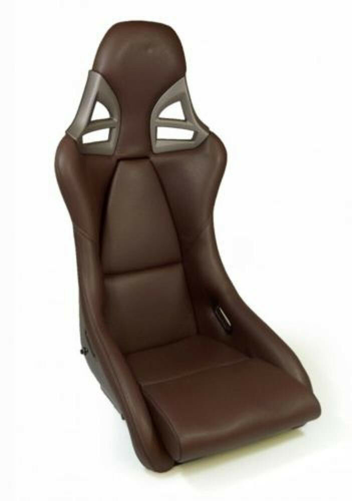 Real Carbon Sport Seat Leather Brown For Porsche Carrera