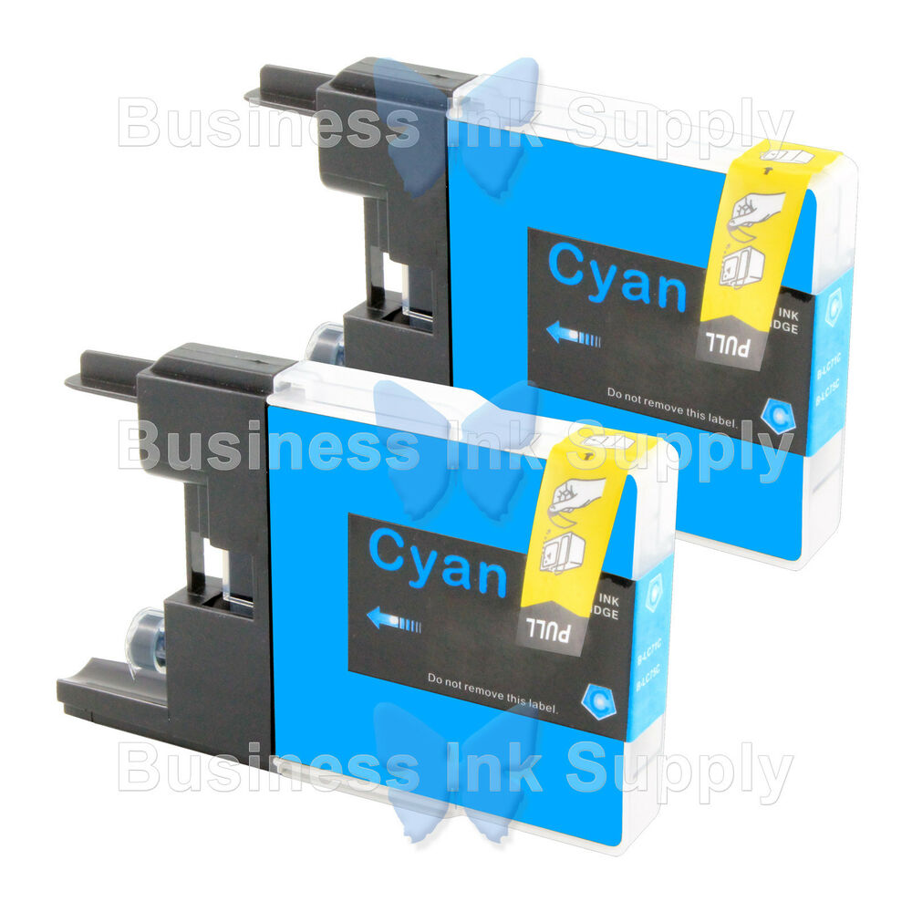 2 CYAN LC71 LC75 Compatible Ink Cartirdge For BROTHER