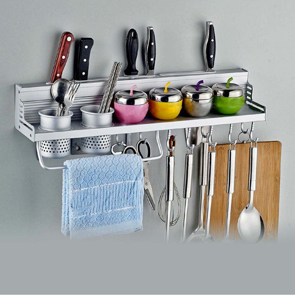 kitchen tool organizer kitchen wall mount utensil hanging storage rack holder for 3370