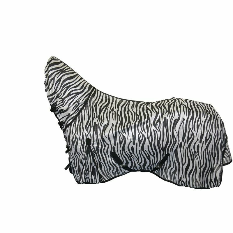 New Bug Away Horse Fly Rug Combo Attached Neck Cover ZEBRA