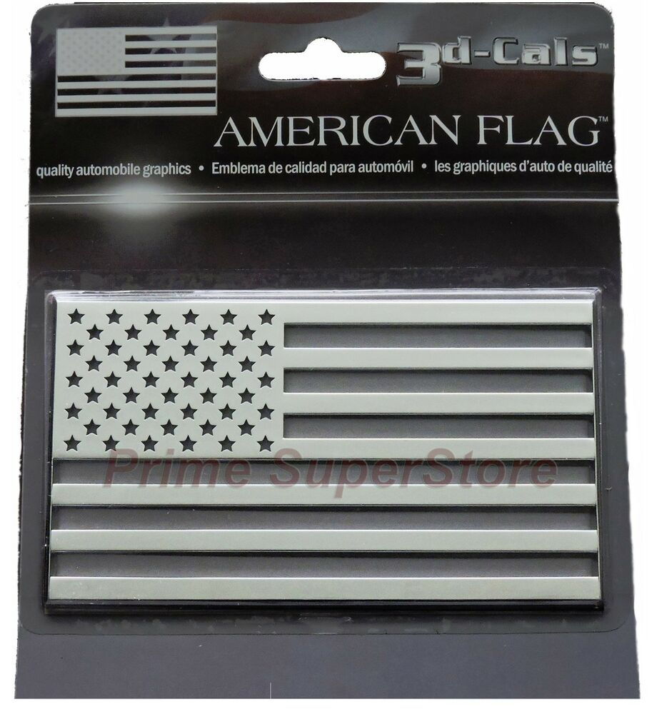 3d Chrome Usa American Flag Self Adhesive Emblem Decal Car