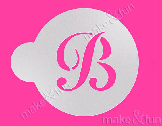 custom letter stencil wedding cookie stencil cake With letter cookie stencils