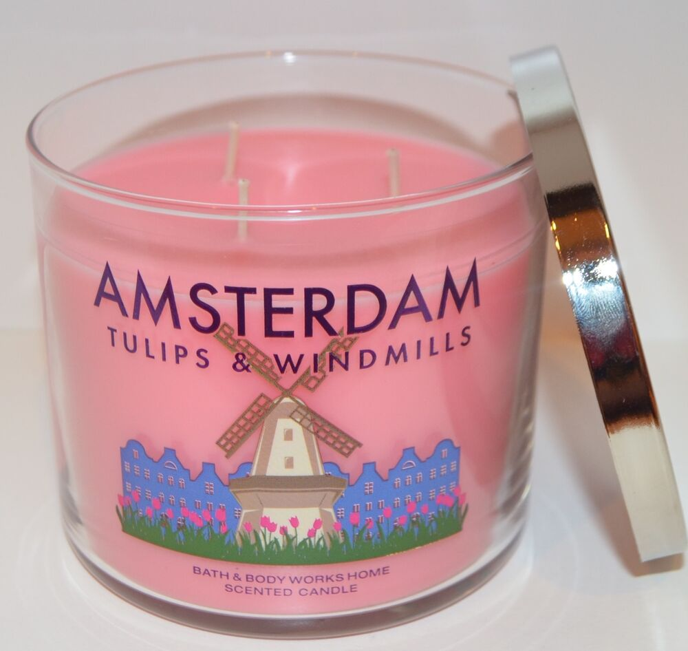 Bath body works amsterdam tulips windmills scented for How to scent candles