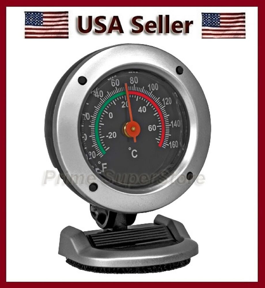 thermometer monitor indoor temperature mini clock car truck rv boat temp gauge ebay. Black Bedroom Furniture Sets. Home Design Ideas