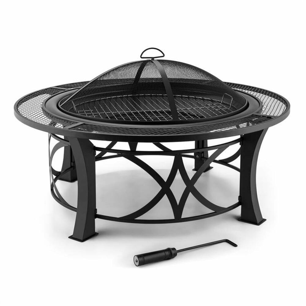xl feuerkorb grill kamin feuerschale gartenfeuer terrassenkamin garten grillrost ebay. Black Bedroom Furniture Sets. Home Design Ideas
