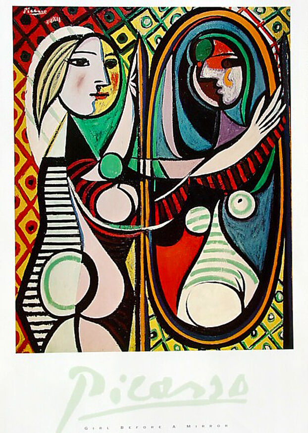 pablo picasso girl before a mirror 1932 high quality art poster 24x36 ebay. Black Bedroom Furniture Sets. Home Design Ideas