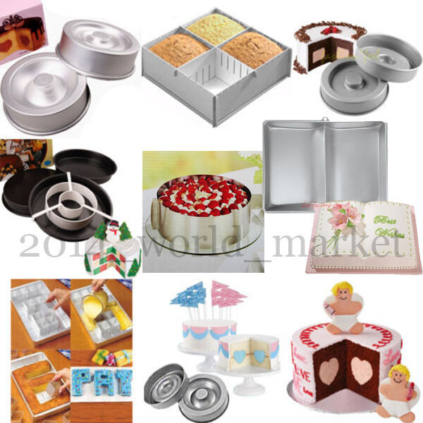 Sugarcraft Cake Decorating And Baking Show : Mix Styles Cake Sugarcraft Decorating Bakeware Pan Tin ...