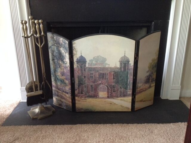 Fireplace Decorative Wood Hand Painted Screen Ebay