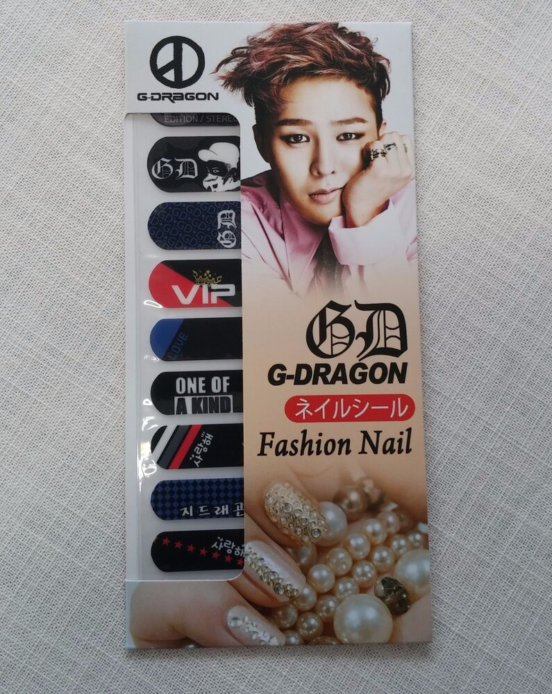 G-Dragon Bigbang Fashion Nail Art Sticker KPOP Star Gift
