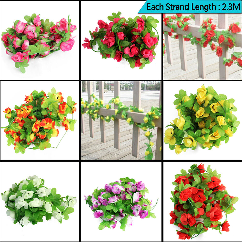 Uk wedding artificial flowers garland plants foliage for Artificial flowers decoration