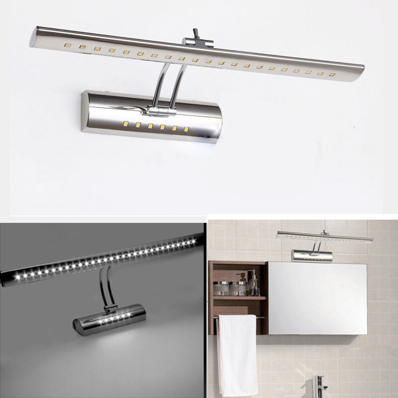 7w stainless steel dressing table mirror sconces led wall for Dressing table with lights