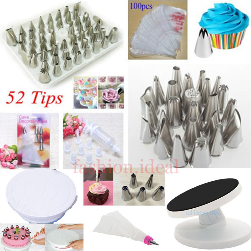 How To Use Cake Decorating Bags And Tips : New Icing Piping Nozzles Tips Bags Tool Set Cake ...