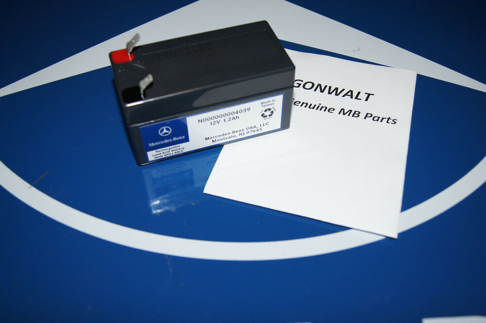 Mercedes benz genuine auxiliary battery 12v 1 2ah for Genuine mercedes benz battery
