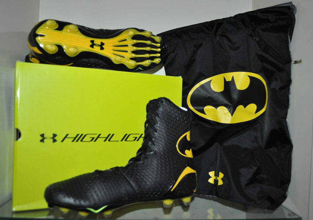black and yellow under armour football cleats